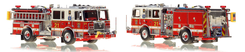 DC Fire & EMS Engine 21 is hand-crafted and includes a custom case!