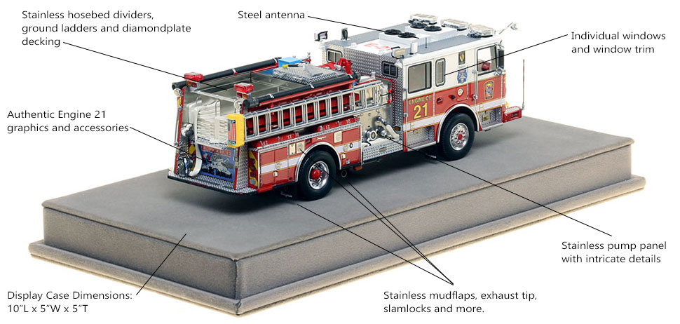 Specs and Features of DC Fire and EMS Engine 21 scale model