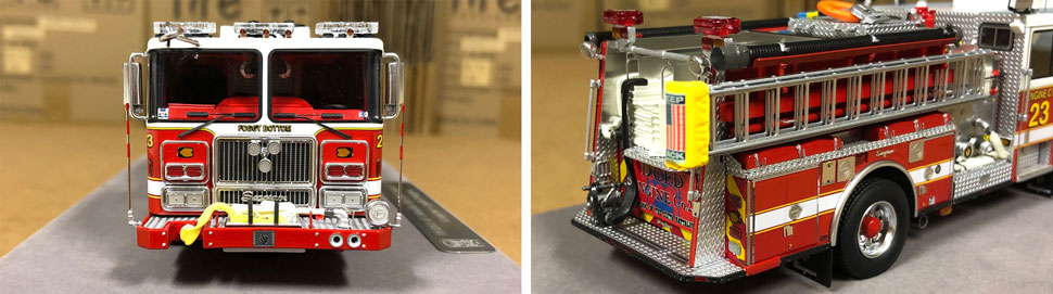 Close up images 7-8 of DC Fire & EMS Engine 23 scale model