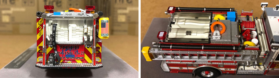 Close up images 1-2 of DC Fire & EMS Engine 23 scale model