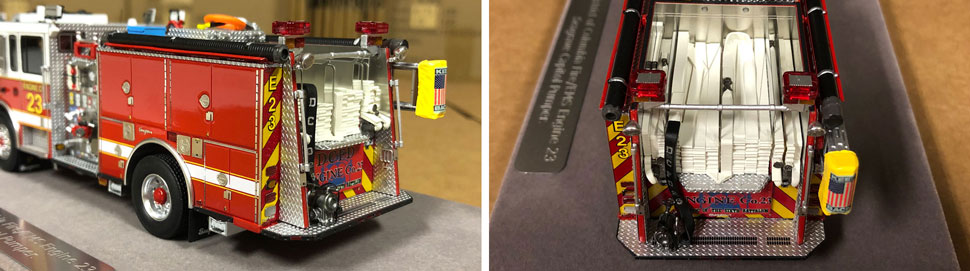 Close up images 9-10 of DC Fire & EMS Engine 23 scale model