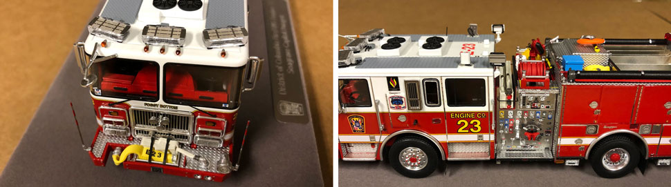 Close up images 5-6 of DC Fire & EMS Engine 23 scale model