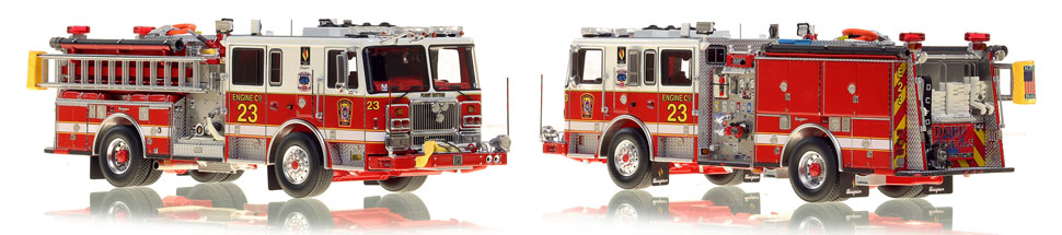 The first museum grade scale model Engine 23 for DC Fire and EMS