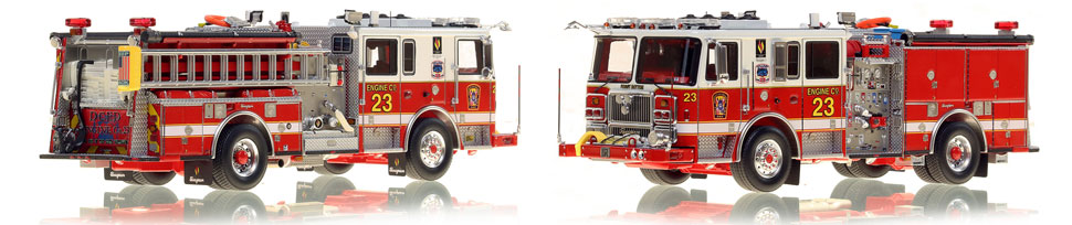 DC Fire & EMS Engine 23 is hand-crafted and includes a custom case!