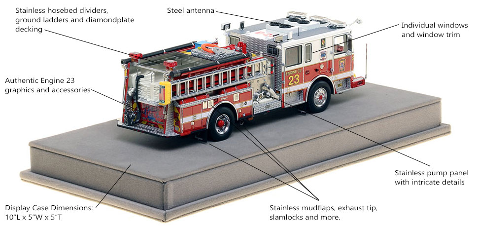 Specs and Features of DC Fire and EMS Engine 23 scale model