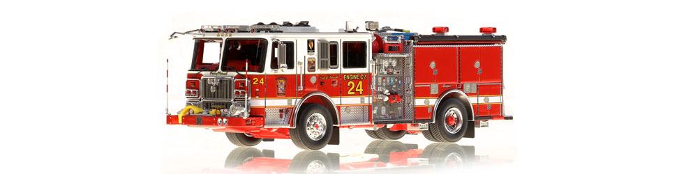 DC Fire & EMS Engine 24 replica features razor sharp accuracy