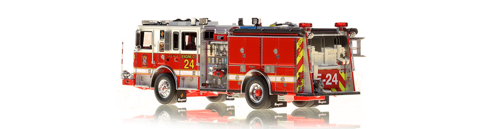 DC Fire Engine 24 is hand-crafted using over 590 parts.