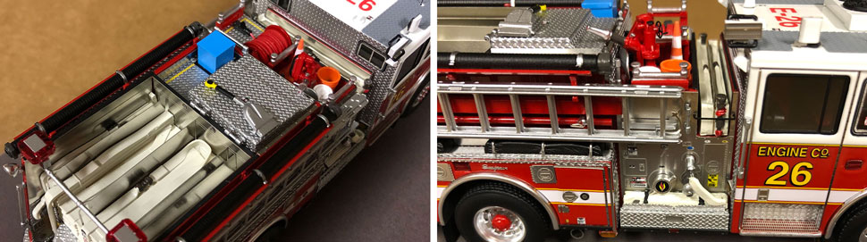 Close up images 3-4 of DC Fire & EMS Engine 26 scale model