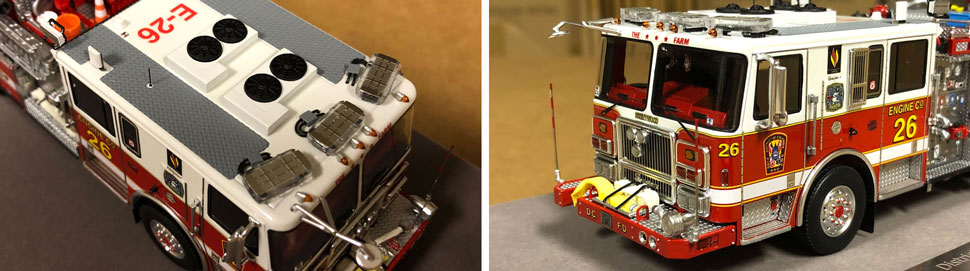 Close up images 5-6 of DC Fire & EMS Engine 26 scale model