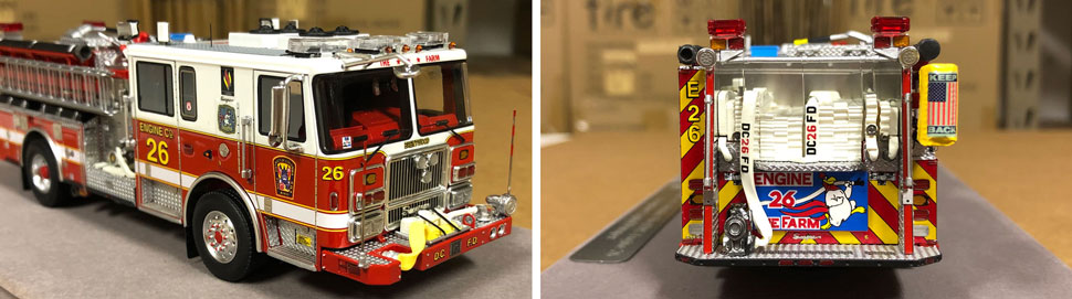 Close up images 1-2 of DC Fire & EMS Engine 26 scale model
