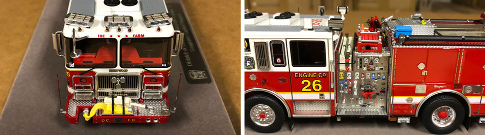 Close up images 9-10 of DC Fire & EMS Engine 26 scale model