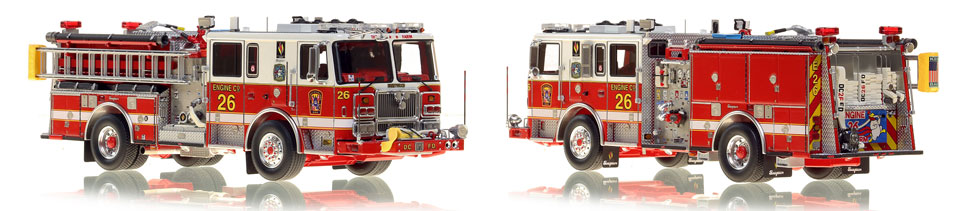 The first museum grade scale model Engine 26 for DC Fire and EMS