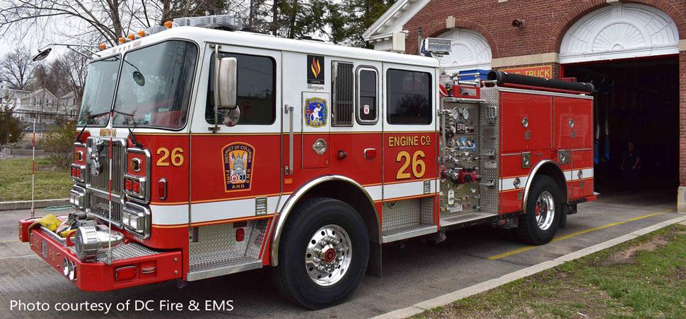 DC Fire & EMS Engine 3 courtesy of DC Fire & EMS