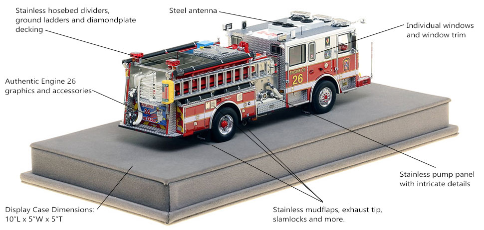Specs and Features of DC Fire and EMS Engine 15 scale model