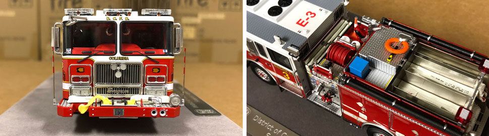 Close up images 7-8 of DC Fire & EMS Engine 3 scale model