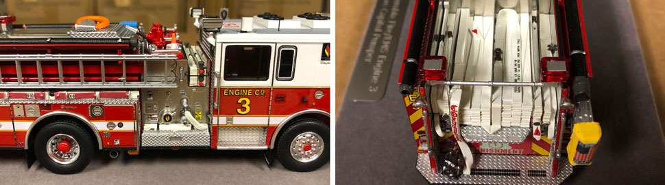 Close up images 1-2 of DC Fire & EMS Engine 3 scale model