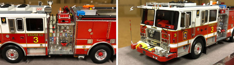 Close up images 9-10 of DC Fire & EMS Engine 3 scale model