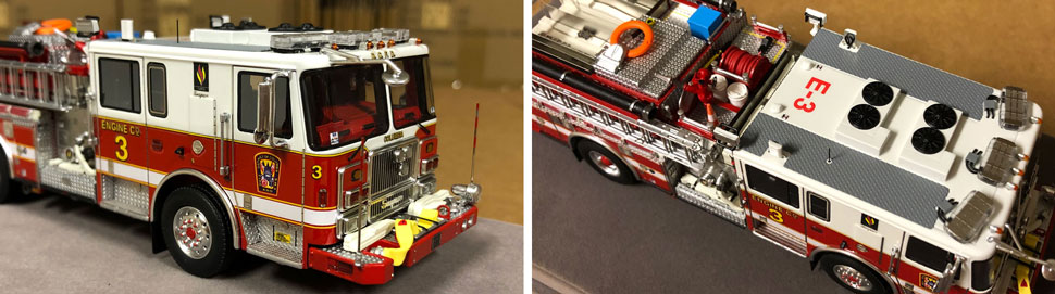 Close up images 5-6 of DC Fire & EMS Engine 3 scale model