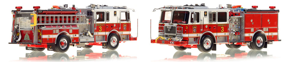 The first museum grade scale model Engine 3 for DC Fire and EMS