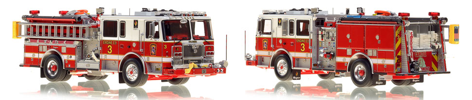DC Fire & EMS Engine 3 is hand-crafted and includes a custom case!
