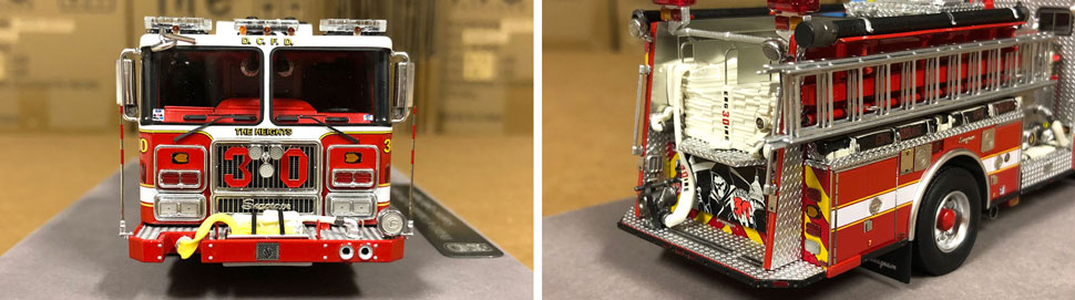 Close up images 7-8 of DC Fire & EMS Engine 30 scale model