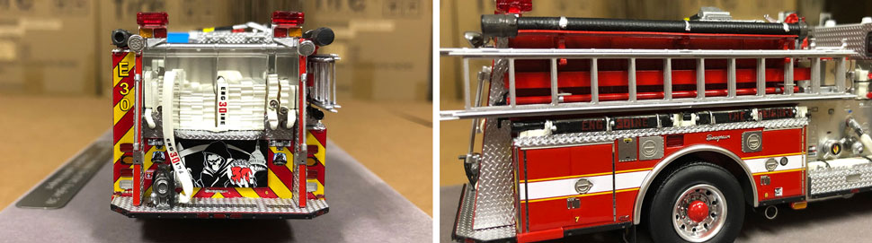 Close up images 1-2 of DC Fire & EMS Engine 30 scale model