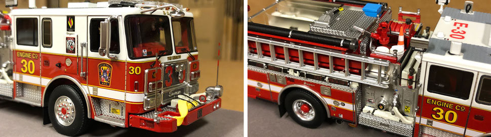 Close up images 9-10 of DC Fire & EMS Engine 30 scale model