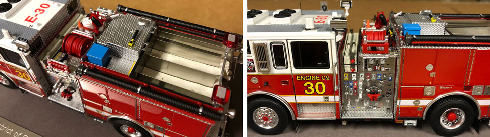 Close up images 3-4 of DC Fire & EMS Engine 30 scale model