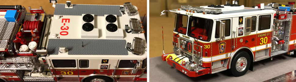 Close up images 5-6 of DC Fire & EMS Engine 30 scale model