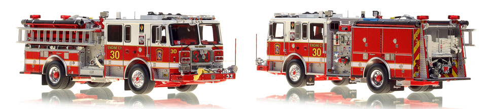 The first museum grade scale model Engine 30 for DC Fire and EMS