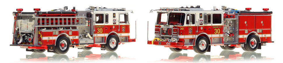 DC Fire & EMS Engine 30 is hand-crafted and includes a custom case!