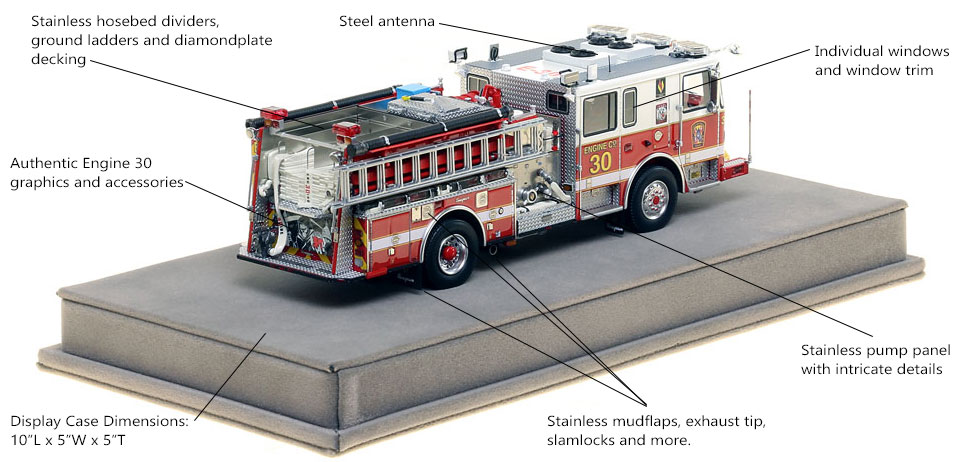 Specs and Features of DC Fire and EMS Engine 30 scale model