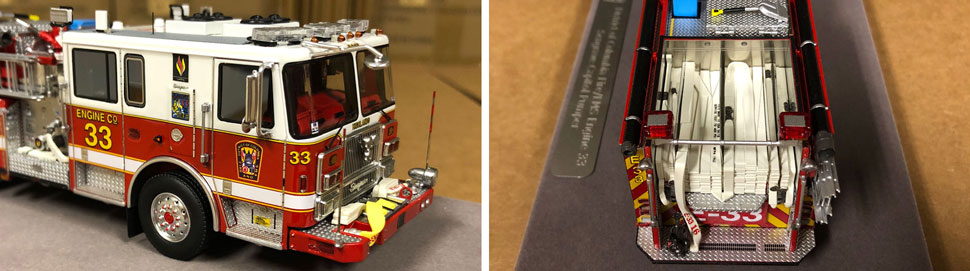 Close up images 7-8 of DC Fire & EMS Engine 33 scale model