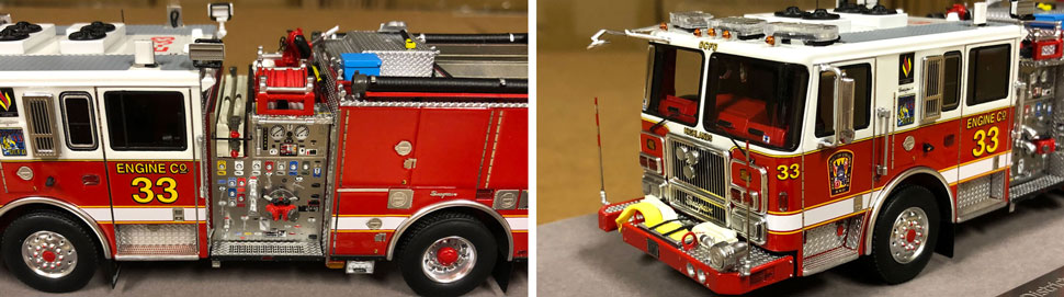 Close up images 9-10 of DC Fire & EMS Engine 33 scale model