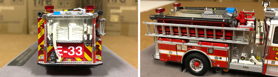 Close up images 1-2 of DC Fire & EMS Engine 33 scale model