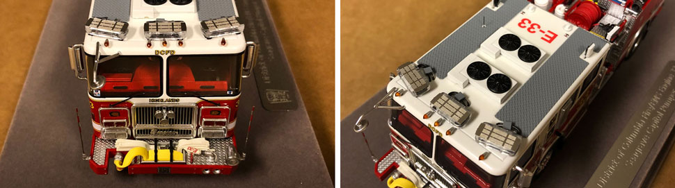 Close up images 3-4 of DC Fire & EMS Engine 33 scale model