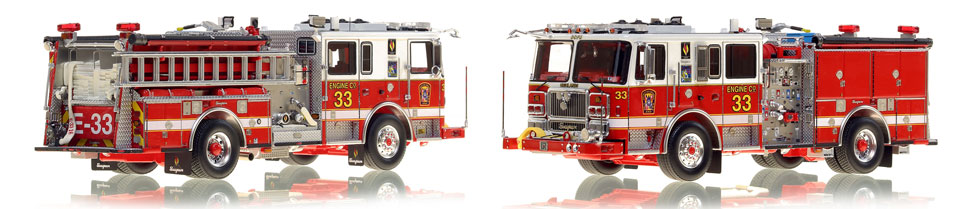The first museum grade scale model Engine 33 for DC Fire and EMS