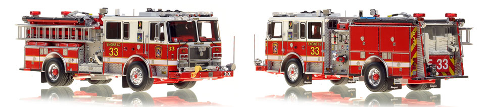 DC Fire & EMS Engine 33 is hand-crafted and includes a custom case!