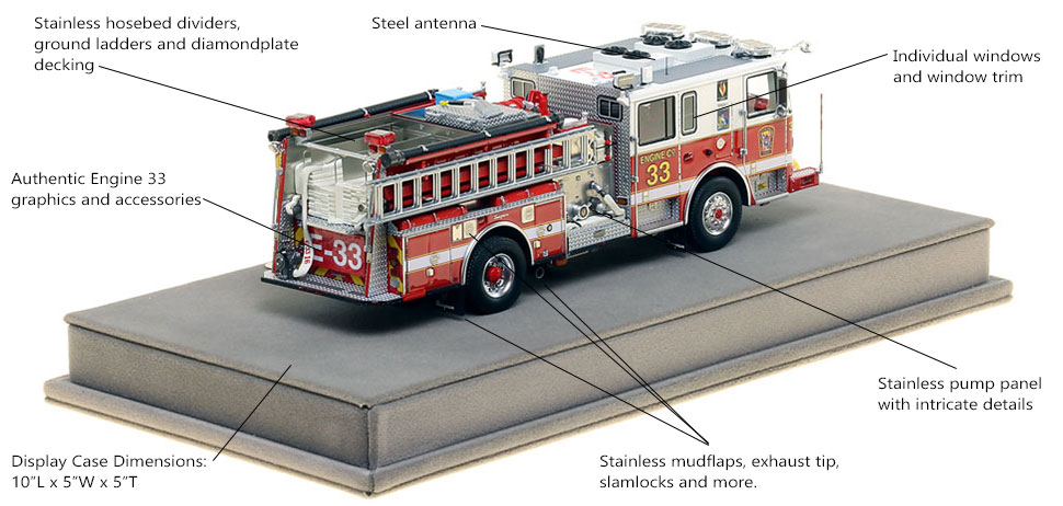 Specs and Features of DC Fire and EMS Engine 33 scale model