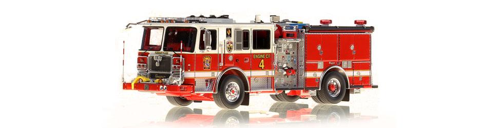 DC Fire & EMS Engine 4 replica features razor sharp accuracy