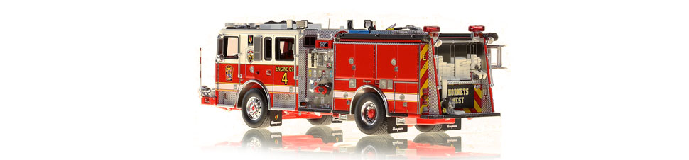 DC Fire Engine 4 is hand-crafted using over 590 parts.
