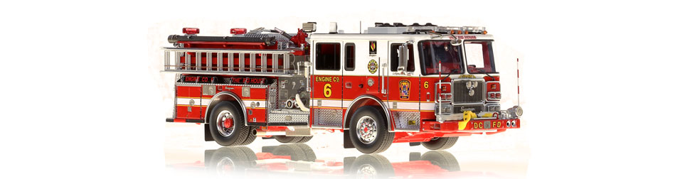 Washington DC Engine 6 features intricately detailed precision