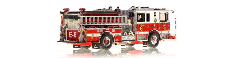 DC Fire Engine 6 is hand-crafted using over 595 parts.