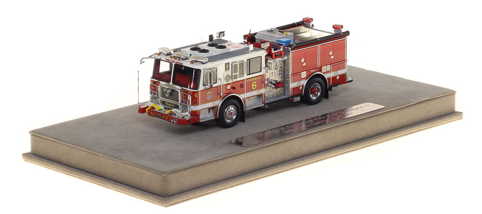 DC Fire Engine 6 includes a fully custom display case.