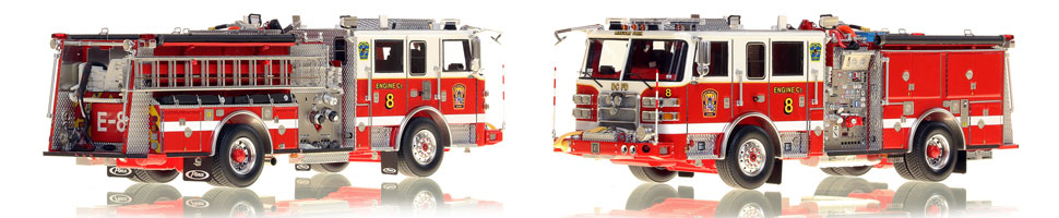 The first museum grade scale model Engine 8 for DC Fire and EMS