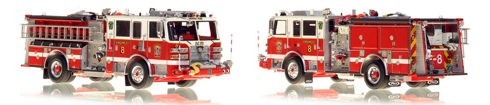 DC Engine 8 scale model is hand-crafted and intricately detailed.