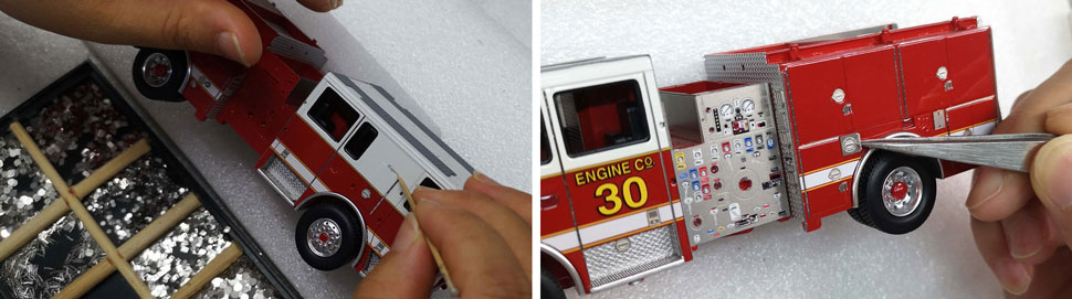 Assembly Pictures 5-6 of Washington D.C. Fire & EMS Seagrave Capitol Engine scale models.