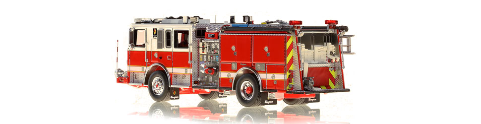 Seagrave Capitol Pumper scale model is hand-crafted