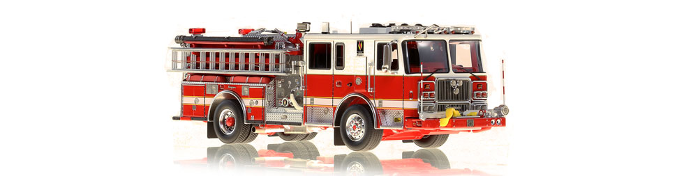 1:50 scale model of Seagrave Capitol Pumper