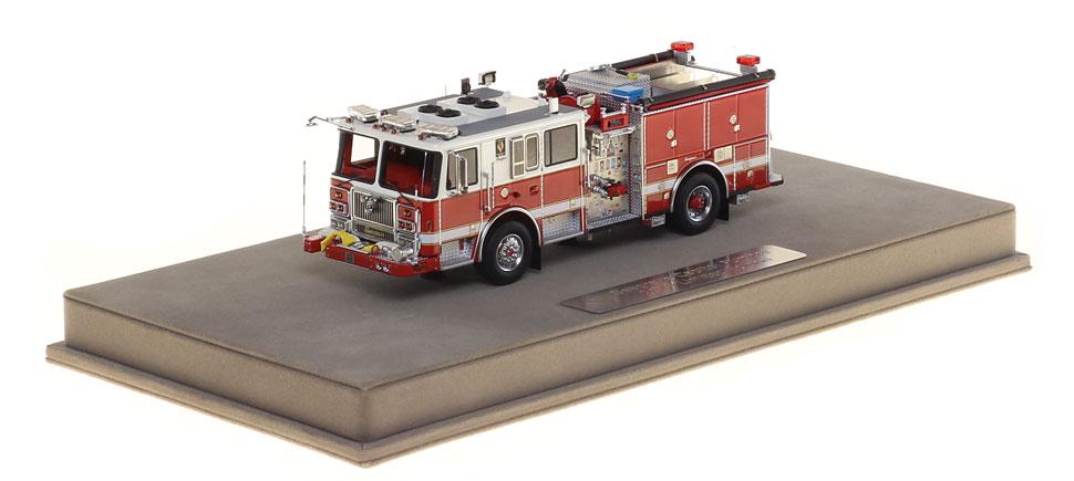 Each Capitol Pumper replica includes a fully custom display case!